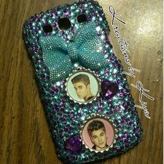 Justin beiber galaxy s3 bling phone case.... to order yours call/text 248 785 7470, fb me at kiya's kreations, follow me on twitter @LaKia Gentry or instagram kreations_by_kiya, kik me kreations.by.kiya or email me at kreationsbykiya@gmail.com