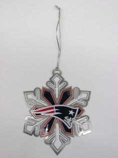 New England Patriots Metal Snowflake Ornament by Forever. $4.99. Holiday: Christmas. New England Patriots. Football. Novelty