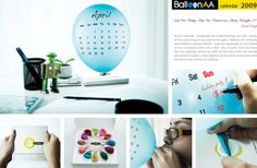 Balloon AA Company has created a special balloon calendar that lightens up the mood in a stressful office.