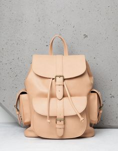 Rigid multi-pocket backpack - Bags - Bershka Netherlands