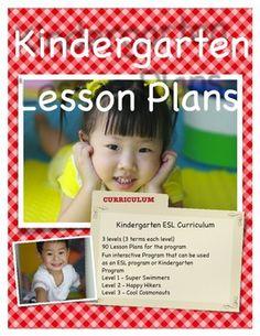 ESL Kindergarten Curriculum 90 weeks (3 levels)