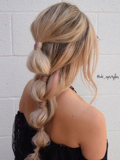 Coachella hair ideas. Bubble braid and glitter hair. Hair by Whitney from Luxe salon and spa in Lancaster, PA