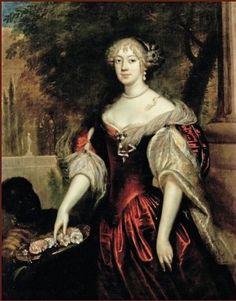 Anna van Ewsum en kindbediende (geschilderd door Jan de Baen, 1633-1702)