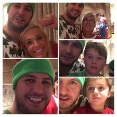 Merry Christmas Luke and Carolina and Bo and Tate, and to mama Brayn thank you for giving us the gift of your son and his beautiful voice, may you all have a joyous holiday, mad have a Happy New Year's! Country Music Bands, Best Country Singers, Country Music Artists, Luke Bryan Funny, Luke Bryan Family, Luke Brian, Caroline Bryan, Travis Tritt, Cute Family