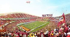 BIGs stadium design for the washington redskins includes a recreational moat