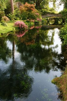 Ninfa Gardens in Italy Cisterna di Latina Lazio.looks like hobbiton Places To See, Places To Travel, Travel Destinations, Italian Garden, Formal Gardens, Visit Italy, Beautiful Places In The World, Parcs, Land Scape