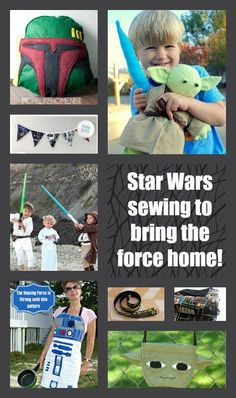 The world is going Star Wars crazy, there's no avoiding it, so why not get involved and try out some super Star Wars sewing projects!?!
