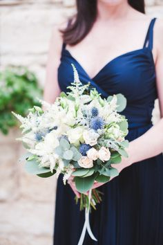 Pastel bridesmaid bouquet: http://www.stylemepretty.com/2014/11/19/romantic-villa-wedding-in-provence/ | Photography: Marion Heurteboust - http://www.marionhphotography.com/