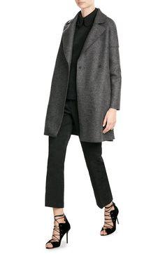 Mantel aus Schurwolle look detail