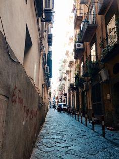 Narrow streets of Naples