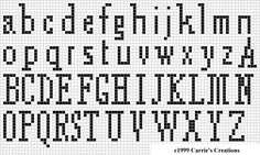the cross stitch alphabet I most like to use