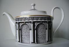 Rosenthal Classic Fornasetti Dekor Palladiana Teapot 1st Qlty N/R