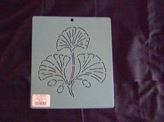 Sashiko Japanese Embroidery Stencil 6 in. Ginkgo Leaves Block/Quilting