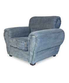 This Denim French Lounge Chair by Sarreid Ltd. is perfect! #zulilyfinds