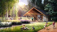 Centrum Rekreacji w Ryglicach. Projekt: BXBstudio + MOSS decor