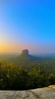 Climb Pidurangala Rock and See Sigiriya Rock - Things to do in Sri Lanka. This is the view of #Sigiriya from #Pidurangala in #SriLanka