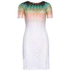 Missoni Ombré Crochet Knit Dress ($1,280) ❤ liked on Polyvore