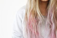Dip and dye, pink is the new sexy.