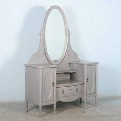 Tall Mirror Antique Dressers And On Pinterest