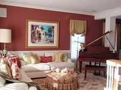 Furniture Around a Baby Grand Piano