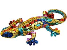 Barcino Carnival Gecko Magnet Size 4.5 inches