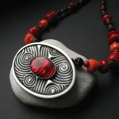 Bloodstream - silver necklace by Anna Fidecka