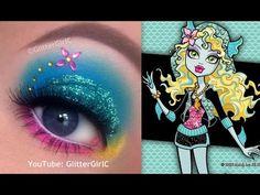 Monster High's Lagoona Blue Makeup Tutorial. Youtube channel: http://full.sc/SK3bIA