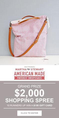 Enter for a chance to win a $2,000 shopping spree #americanmadeebaysweeps