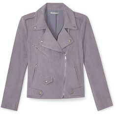 Rebecca Minkoff Wes Moto Jacket (14.815 CZK) ❤ liked on Polyvore featuring outerwear, jackets, veste, rider jacket, biker jacket, suede biker jacket, suede moto jacket and purple biker jacket