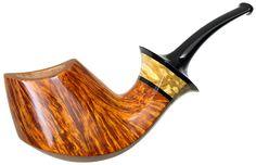 Kent Rasmussen Tobacco Pipes: Smooth Volcano with Mazur Birch