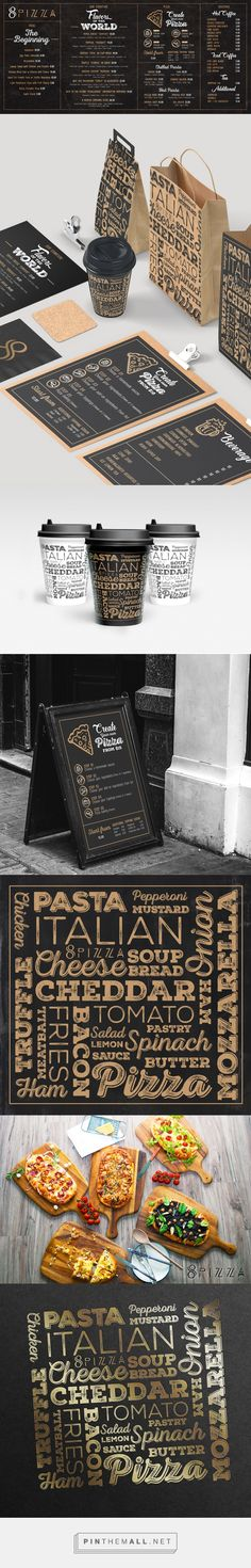 restaurant menu branding on Behance. - a grouped images picture Design Café, Food Design, Layout Design, Cafe Design, Design Ideas, Pizza Menu Design, Clean Design, Graphic Design, Menu Restaurant