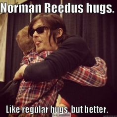 Norman Reedus hugs witg tounge porn