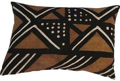 """Always liked these vintage African Mud Cloth applications for pillows, tabletop, even framed.  What is the definition of """"modern"""" again?"""