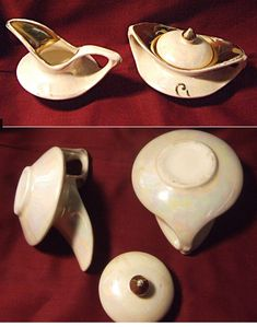 Child's+Lusterware+Sugar+w/lid+and+Creamer,+Pearl+China,+22+kt.+gold+trim