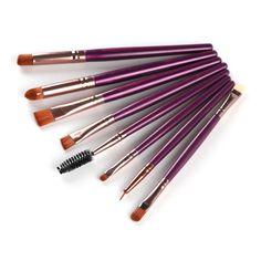 8Pcs/Sets Good Quality Cosmetic Eyeshadow Brush Makeup Eyebrow Brush Kits Tools Eye Brush Set #Affiliate