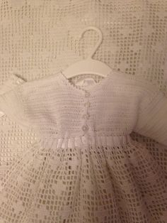 The back of the christening dress