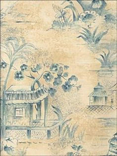 a passion for toile #wallpaper