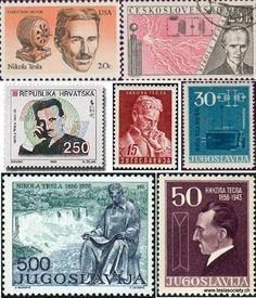 A Collection of Nikola Tesla Stamps by the Tesla Society of Switzerland, Petar Stajanovic (Founder - www.teslasociety.ch)