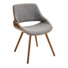 Fabrizzi Chair Walnut, Grey