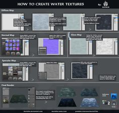 Making of Water Texture Tutorial Hoarder's Dump / Collage of tutorials hoarded over time - Polycount Forum