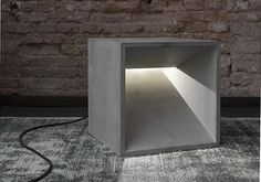 Looking for some durable lighting? Here's some great light fixtures made from cement. Learn how to make your own concrete lamp via homemade-modern.com. #ConcreteLamp