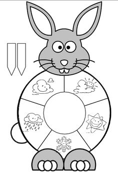 Easter spring bunny temperature and weather spinner activity page Cool Paper Crafts, Diy And Crafts, Crafts For Kids, Preschool Science, Preschool Activities, Clock Face Printable, Weather Crafts, Felt Crafts Patterns, Birthday Charts