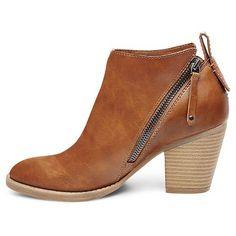 Women's dv Jameson Double Side Zip Booties - Cognac 8 : Target