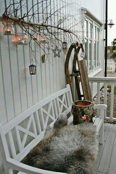 Winter home - vibeke design Classy Christmas, Nordic Christmas, Outdoor Christmas, Winter Christmas, Christmas Home, Xmas, Beautiful Christmas, Hygge Christmas, Christmas Garden