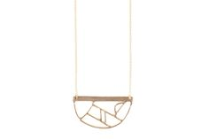 Inspired by stained glass windows, art deco, and Mondrian-like intersections of shapes, these necklaces are hand fused from wax and cast in bronze....