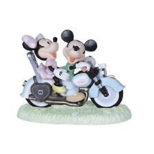Precious Moments Disney Mickey and Minnie Motorcycle Two Hearts One Road 122702