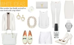 """""""WHITE IDEAS"""" by thestylejunkies on Polyvore"""