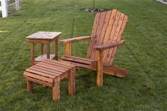 Amish Made Adirondack Chair with Optional Foot Rest Made in USA via www.BuyDirectUSA.com