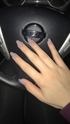 Almond nails  exactly this. Color and shape. Yes.
