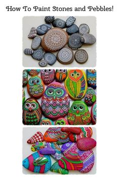 How To Paint Stones and Pebbles! What's not to like? YOUR CANVAS IS FREE!